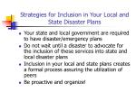 strategies for inclusion in your local and state disaster plans