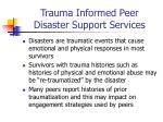 trauma informed peer disaster support services