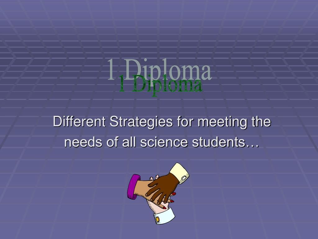different strategies for meeting the needs of all science students l.