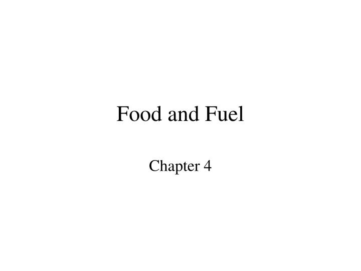 food and fuel n.
