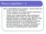 nexus legislation 4
