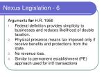 nexus legislation 6