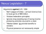 nexus legislation 7