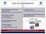 the ge experience1