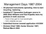 management days 1987 20041