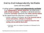 end to end independently verifiable lowry and vora 2009