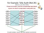 for example tally audit not zk jakobsson juels rivest 2002