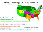 voting technology 2008 us election
