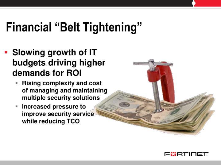 """Financial """"Belt Tightening"""""""