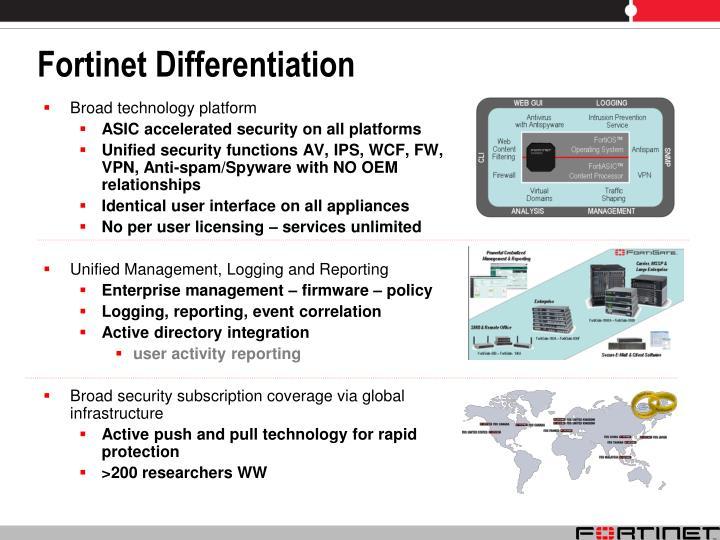 Fortinet Differentiation