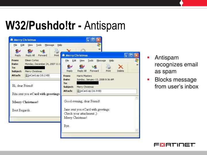 Antispam recognizes email as spam