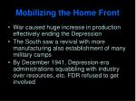 mobilizing the home front1