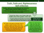 truth faith and righteousness self reflection1