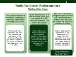 truth faith and righteousness self reflection2