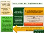 truth faith and righteousness
