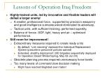 lessons of operation iraq freedom