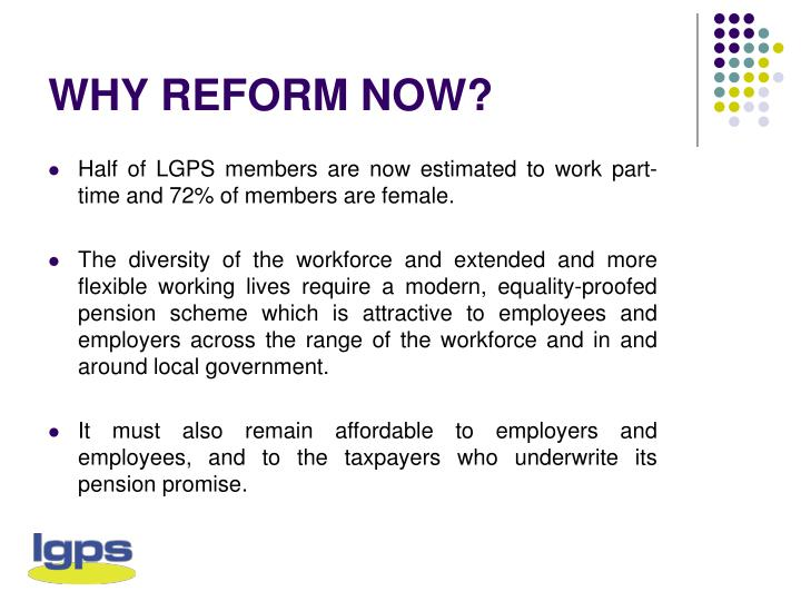 Why reform now