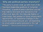 why are political parties important