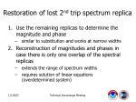 restoration of lost 2 nd trip spectrum replica