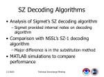sz decoding algorithms