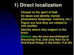1 direct localization