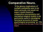 comparative neuro