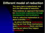 different model of reduction