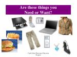 are these things you need or want
