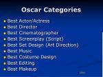 oscar categories