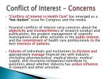 conflict of interest concerns