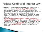 federal conflict of interest law
