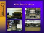 other rotor machines