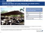 demand for meat sets big pressure on grain supply