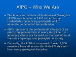aipg who we are