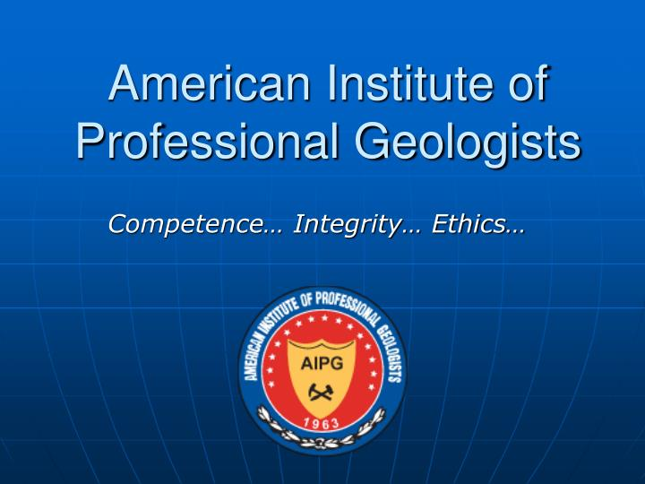 american institute of professional geologists n.