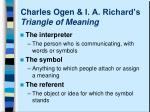 charles ogen i a richard s triangle of meaning