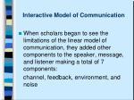 interactive model of communication