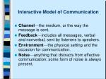 interactive model of communication5