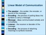 linear model of communication6