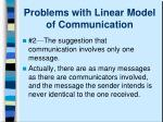 problems with linear model of communication1