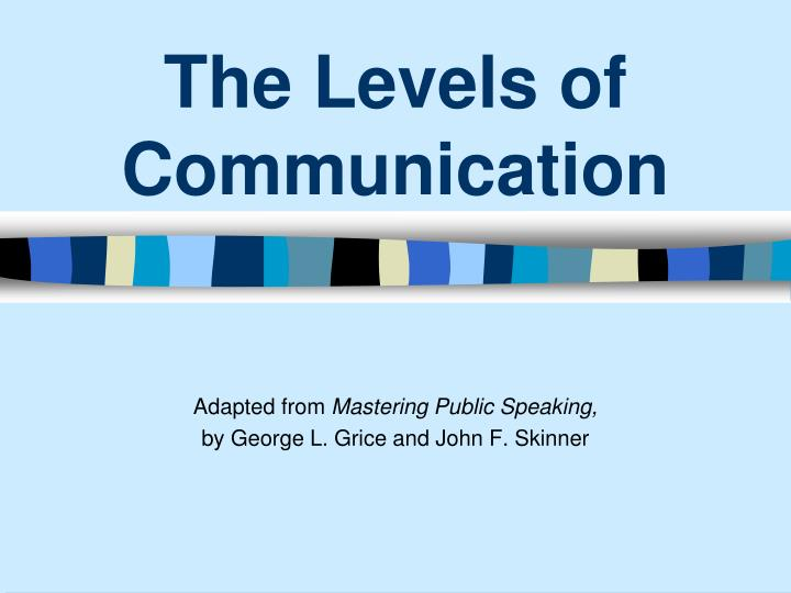the levels of communication n.
