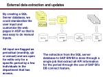 external data extraction and updates