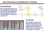query performance and simplification in infocubes