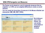 sem cpm navigation and measures