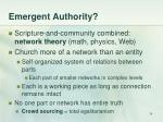 emergent authority