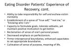 eating disorder patients experience of recovery cont
