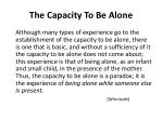 the capacity to be alone2