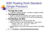ieee floating point standard single precision