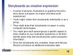 storyboards as creative expression
