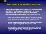 main trends in pension fund governance